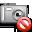 delete, camera icon