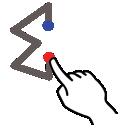 sum, stroke, gestureworks icon