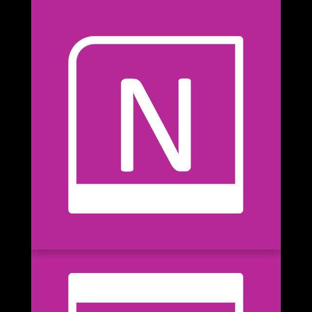 onenote, mirror icon