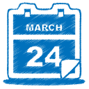 calendar, blue, event, date icon