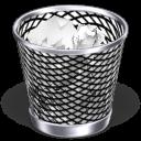 full, trash can, recycle bin icon