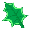 green, leaf icon