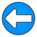 left, circle, arrow icon