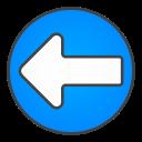 left, circle, arrow icon