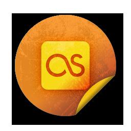 last fm, logo, square icon