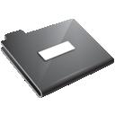 folder, grey, minus icon