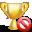 delete, trophy icon