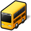 transportation, vehicle, school bus, service icon