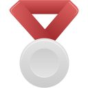 metal, silver, red icon