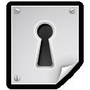 encrypted, file, lock, key hole icon