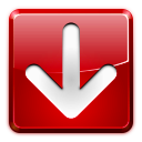 download, left, arrow, red icon