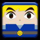 link,blue,block icon