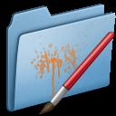 Blue, Paint icon