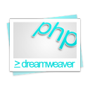 document, php, paper, dreamweaver, file icon