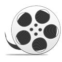 with, movie, film, video, reel icon
