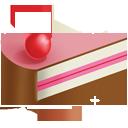 slice, cream, cake, ice icon