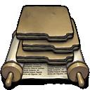 action, folder icon