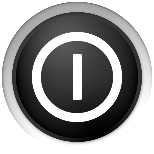 black, shutdown, power off, shut down, turn off icon