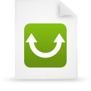 green, paper, file, document icon