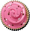 cupcake, cake, muffin, pink icon