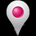 pink, inside, marker, mapmarker icon