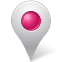 pink, map, base, marker, inside icon