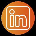 circle, linkedin, color icon