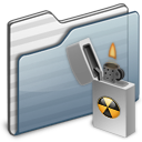 folder, graphite, burnable icon