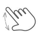swipe, gesture, hand, spread, interactive, finger, scroll icon