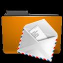 orange,folder,mail icon