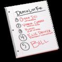 death,list,listing icon
