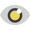 search, view, look, magnifier, zoom, eye icon