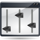 actions view media equalizer icon
