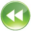 end, green, rewind, backward icon