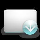 fall, download, decrease, folder, down, descend, descending icon