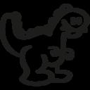 Dinosaur hand drawn toy animal icon