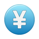 currency, blue, yuan icon