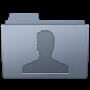 Folder, Graphite, Users icon