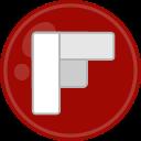 flipboard, social, media icon