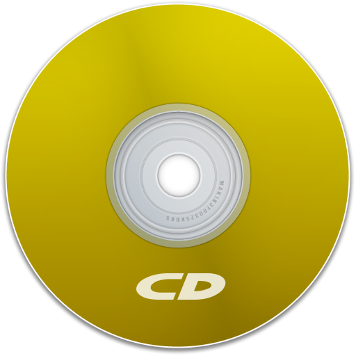 yellow, cd, save, disk, disc, dvd icon