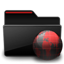 Black, Folder, Red, Web icon