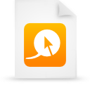 document, paper, file, orange icon