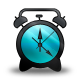 Alarm, And, Black, Blue, Clock icon
