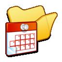 scheduled, tasks, yellow, folder icon