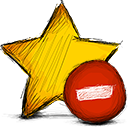star, delete icon