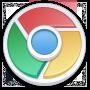 Chrome, Lite, Round icon