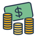 save money, cash, resolutions, coins, budget, money, balance spendings icon