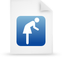 blue, document, paper, file icon
