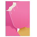 cream, pink, ice icon