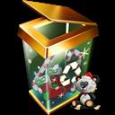 Bin, Full, Recycle, x icon